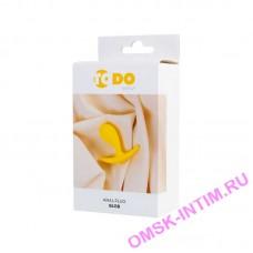 357019 - Анальная втулка ToDo by Toyfa Blob, силикон, желтая, 5,5 см, Ø 2,1 см