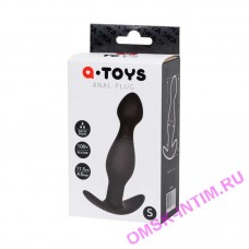 761316 - Анальная пробка A-Toys by TOYFA размера S, cиликон, черная, 11,5 см, 2,8 см