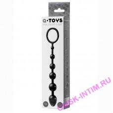 761310 -  Анальная цепочка Toyfa A-toys S, TPE, черный, 19,8см