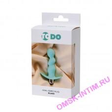 358003 - Анальная вибровтулка ToDo by Toyfa Bland, силикон, мятная, 12 см, 2,8 см
