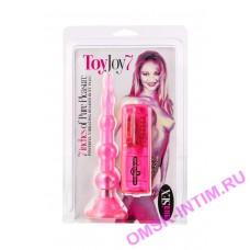 50117 - Анальная ёлочка с вибрацией ToyJoy 7.7, розовая