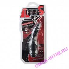 901327-5 - Анальный вибратор TOYFA Black&Red, 10 режимов вибрации, силиконовый,