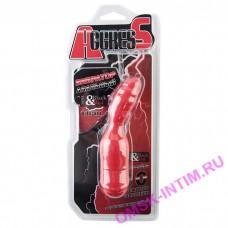Анальный вибратор TOYFA Black&Red, 10 режимов вибрации, силиконовый, красный, 11,4 см