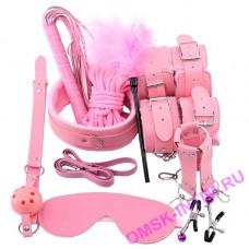 """EH 2010-827P - Набор аксессуаров БДСМ """"Veritas"""", 10 предметов, розовый"""