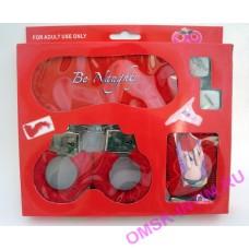 EH 900252 - Набор эротический игровой: наручники+маска+перо+трусики+кубики, блистер