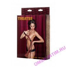 700013 - Плеть TOYFA Theatre кожаная коричневая ,38 см