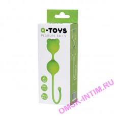 764016 - Вагинальные шарики A-Toys by TOYFA, силикон, зеленый,