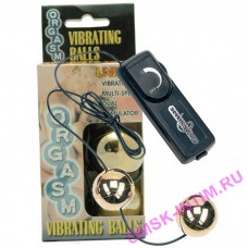 50249 - Виброшарики Orgasm Vibrating Balls, золотистые