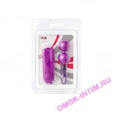 885007 - Вагинальные шарики TOYFA с вибрацией, ABS пластик, фиолетовые, 3 см